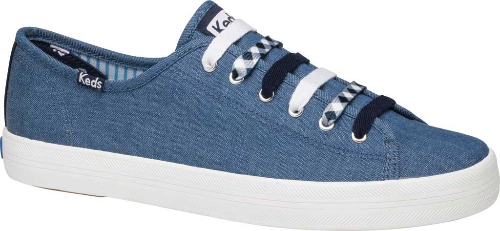 Women's Keds Draper James Chambray Kickstart Sneaker, Indigo Chambray Fabric, large, image 1