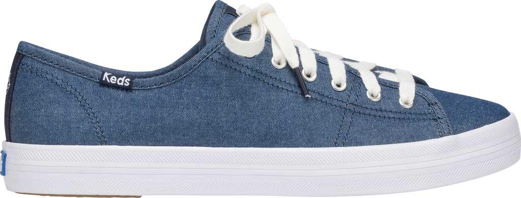 Women's Keds Draper James Chambray Kickstart Sneaker, Indigo Chambray Fabric, large, image 2
