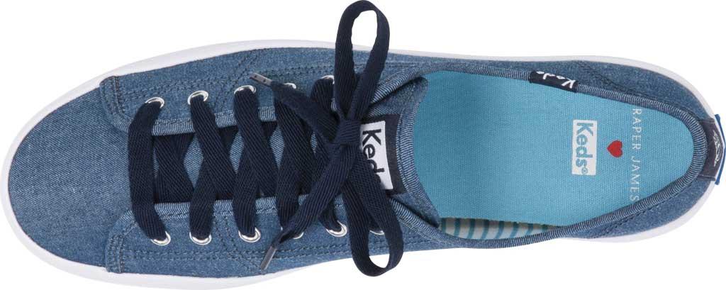 Women's Keds Draper James Chambray Kickstart Sneaker, Indigo Chambray Fabric, large, image 3