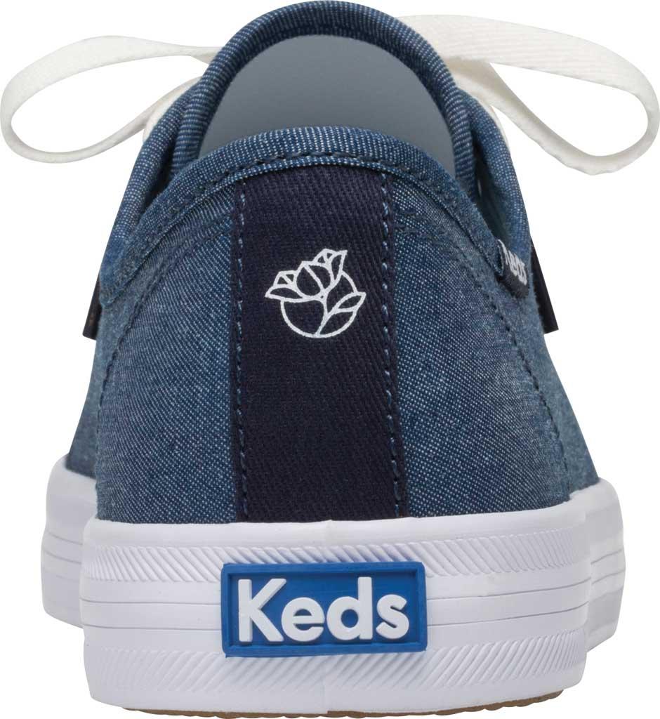 Women's Keds Draper James Chambray Kickstart Sneaker, Indigo Chambray Fabric, large, image 4