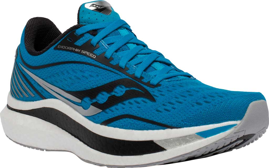 Men's Saucony Endorphin Speed Running Sneaker, Cobalt/Silver, large, image 1