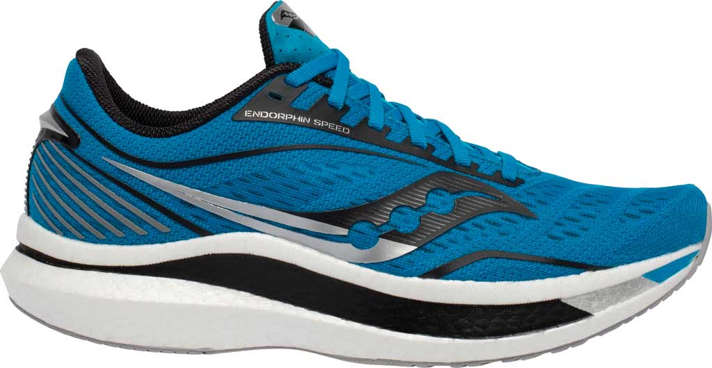 Men's Saucony Endorphin Speed Running Sneaker, Cobalt/Silver, large, image 2