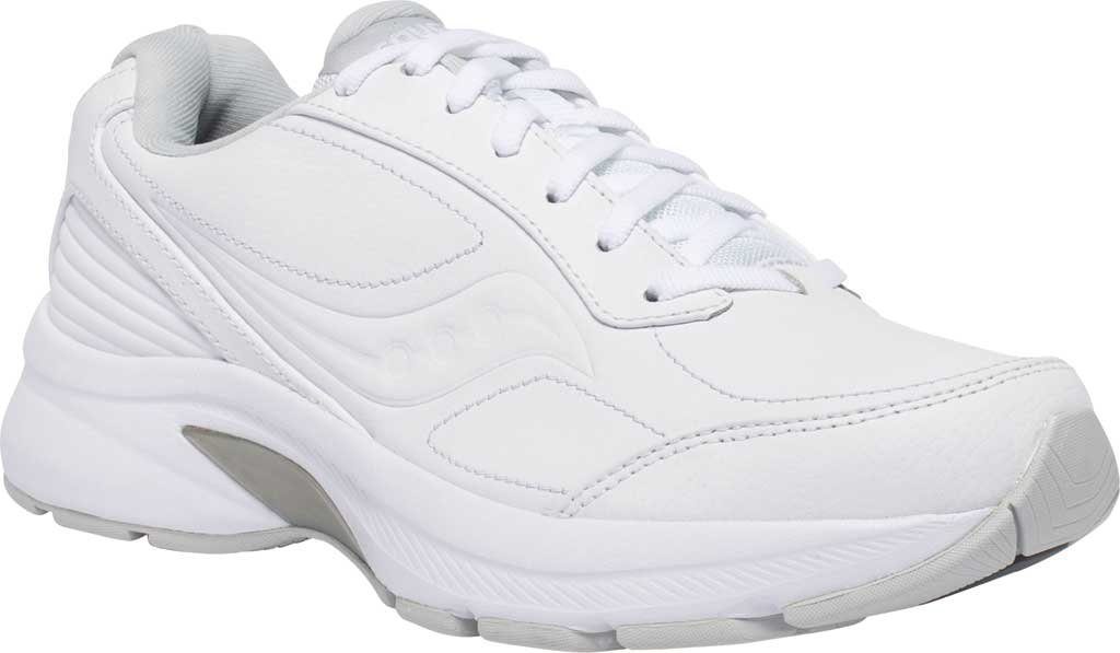 Women's Saucony Omni Walker 3 Walking Sneaker, White, large, image 1