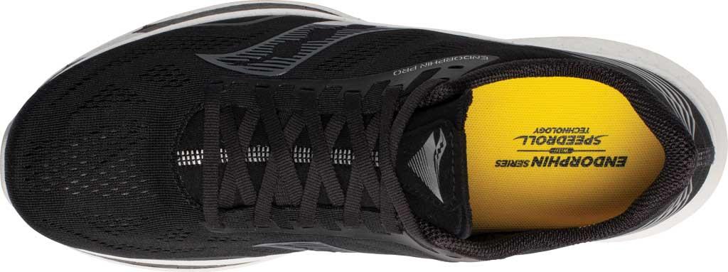 Men's Saucony Endorphin Pro Running Sneaker, Black/Silver, large, image 4