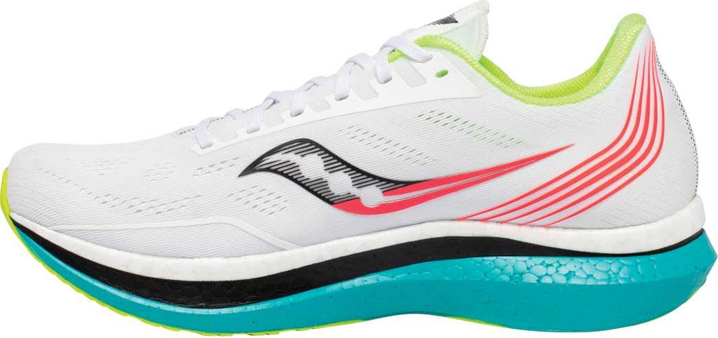 Men's Saucony Endorphin Pro Running Sneaker, White Mutant, large, image 3