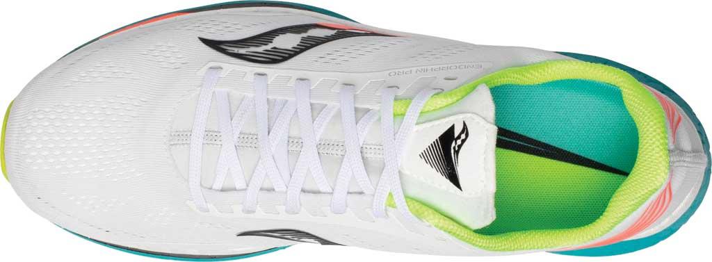 Men's Saucony Endorphin Pro Running Sneaker, White Mutant, large, image 4
