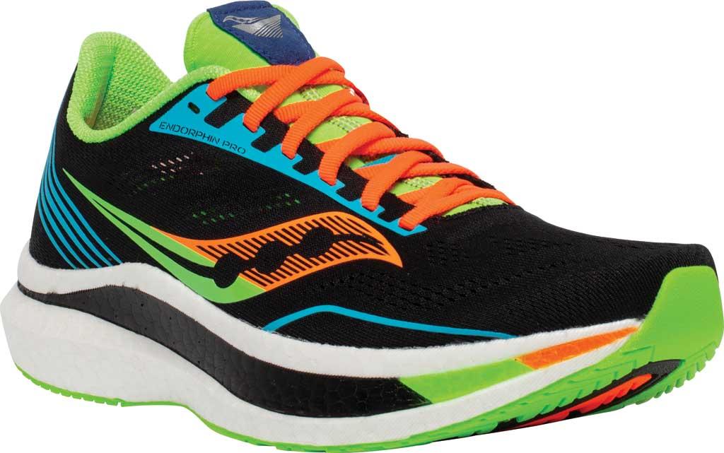 Men's Saucony Endorphin Pro Running Sneaker, Future/Black, large, image 1
