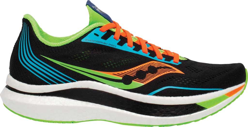 Men's Saucony Endorphin Pro Running Sneaker, Future/Black, large, image 2