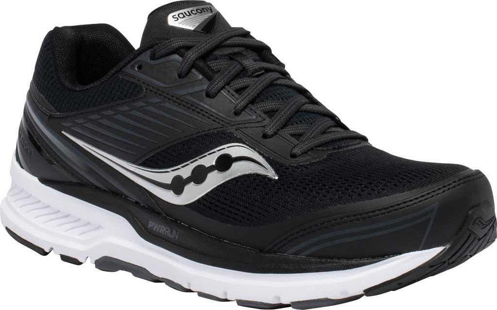 Men's Saucony Echelon 8 Running Sneaker, Black/White, large, image 1
