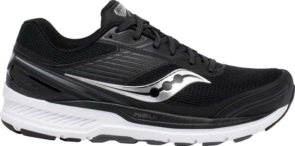 Men's Saucony Echelon 8 Running Sneaker, Black/White, large, image 2