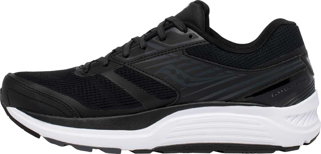 Men's Saucony Echelon 8 Running Sneaker, Black/White, large, image 3