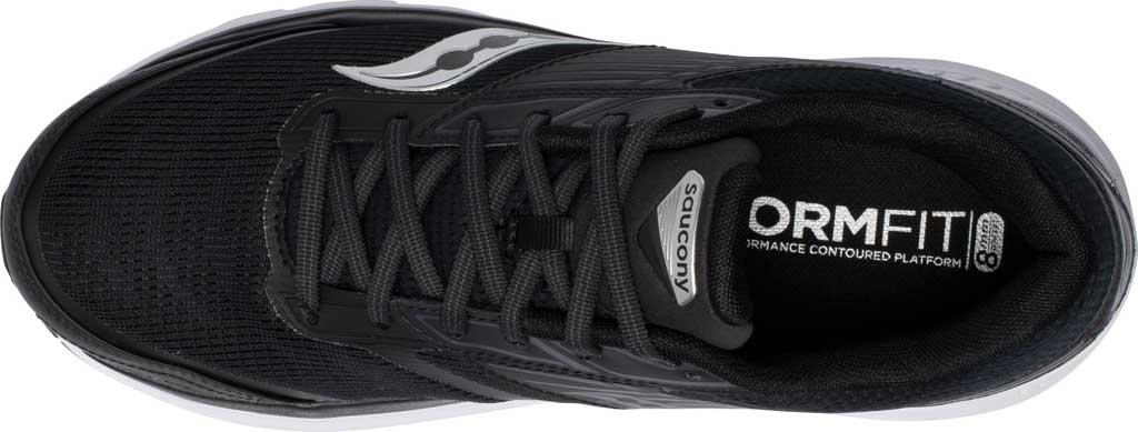 Men's Saucony Echelon 8 Running Sneaker, Black/White, large, image 4