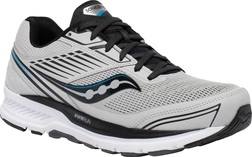 Men's Saucony Echelon 8 Running Sneaker, Alloy/Black, large, image 1