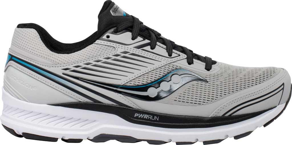 Men's Saucony Echelon 8 Running Sneaker, Alloy/Black, large, image 2