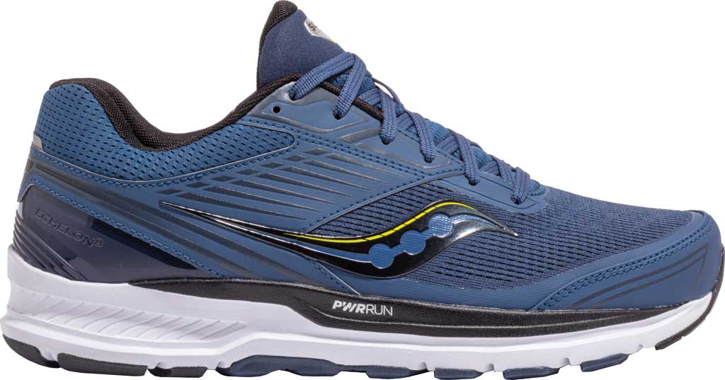 Men's Saucony Echelon 8 Running Sneaker, Storm/Black, large, image 1