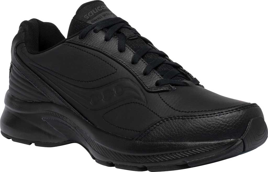 Men's Saucony Omni Walker 3 Walking Sneaker, Black, large, image 1