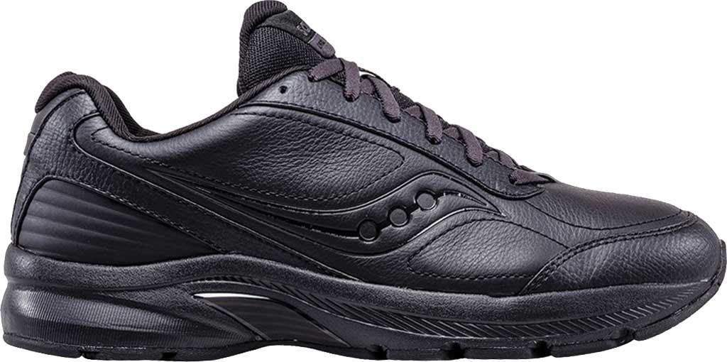 Men's Saucony Omni Walker 3 Walking Sneaker, Black, large, image 2