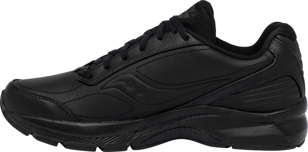 Men's Saucony Omni Walker 3 Walking Sneaker, Black, large, image 3
