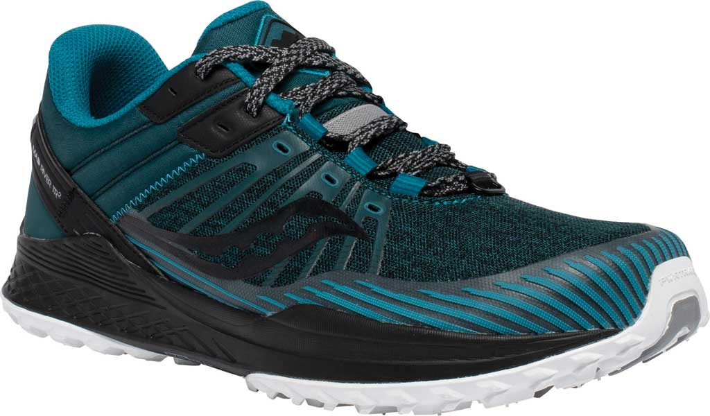 Men's Saucony Mad River TR2 Trail Running Sneaker, Teal/Black, large, image 1