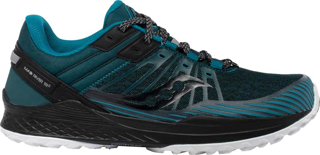 Men's Saucony Mad River TR2 Trail Running Sneaker, Teal/Black, large, image 2