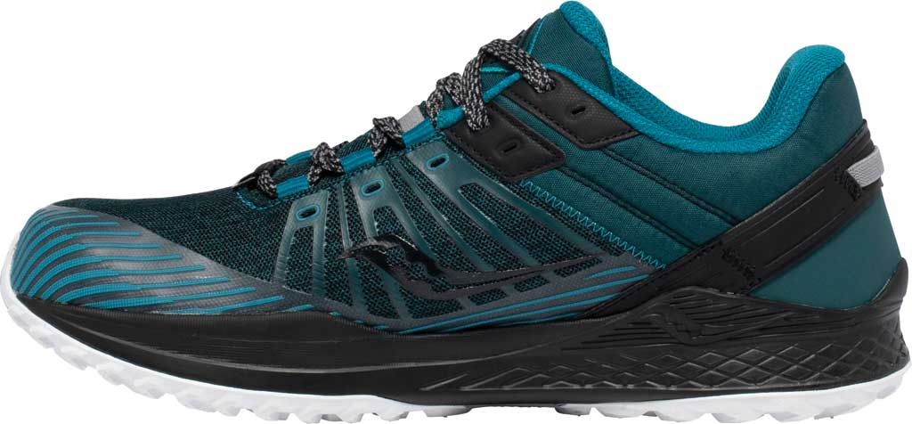 Men's Saucony Mad River TR2 Trail Running Sneaker, Teal/Black, large, image 3