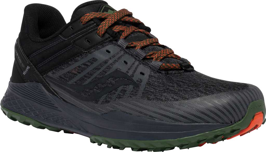 Men's Saucony Mad River TR2 Trail Running Sneaker, Charcoal/Pine, large, image 1