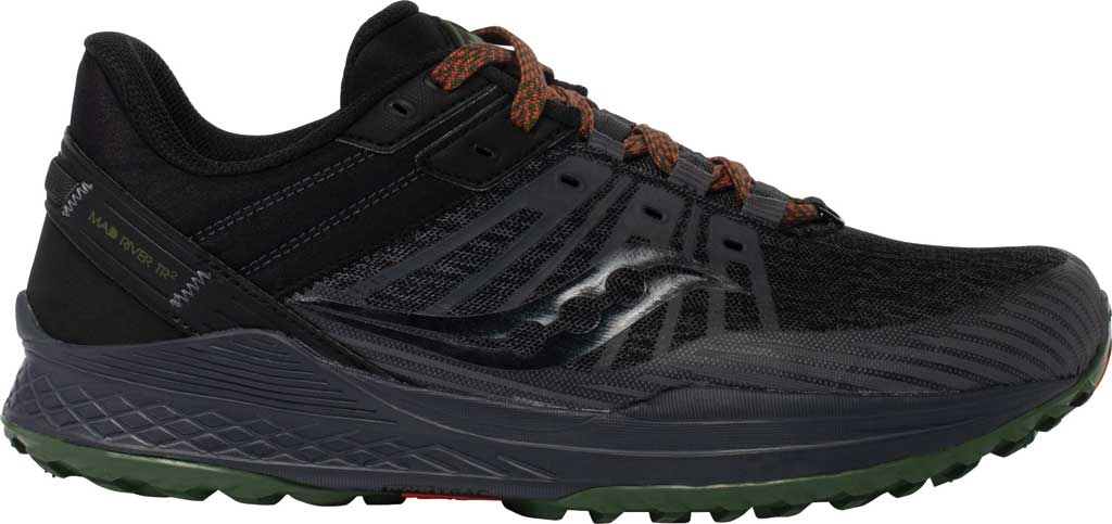 Men's Saucony Mad River TR2 Trail Running Sneaker, Charcoal/Pine, large, image 2