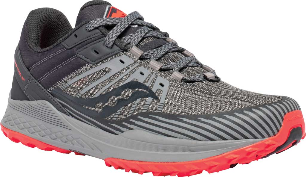 Men's Saucony Mad River TR2 Trail Running Sneaker, Grey/Vizired, large, image 1