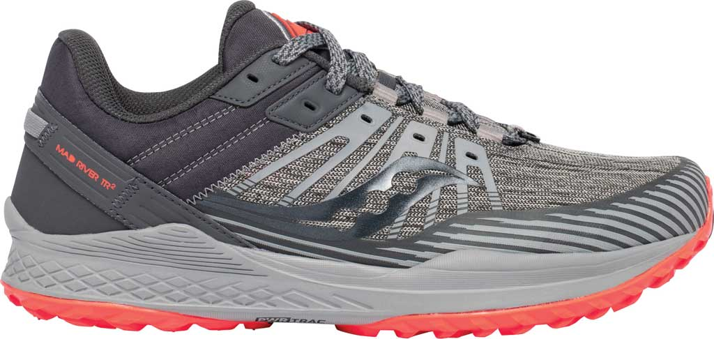 Men's Saucony Mad River TR2 Trail Running Sneaker, Grey/Vizired, large, image 2