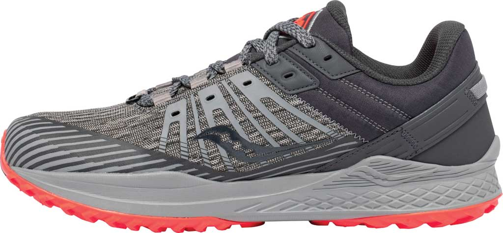 Men's Saucony Mad River TR2 Trail Running Sneaker, Grey/Vizired, large, image 3