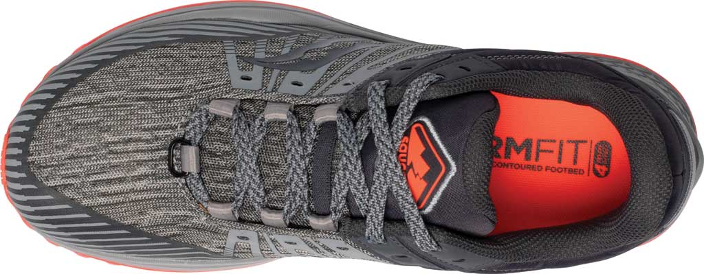 Men's Saucony Mad River TR2 Trail Running Sneaker, Grey/Vizired, large, image 4