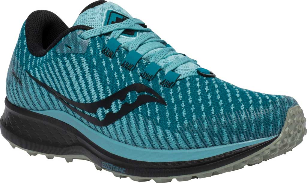 Women's Saucony Canyon TR Trail Running Sneaker, Marine Black, large, image 1