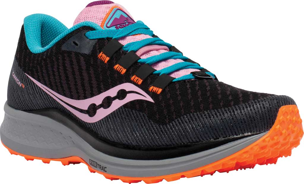 Women's Saucony Canyon TR Trail Running Sneaker, Future Black, large, image 1