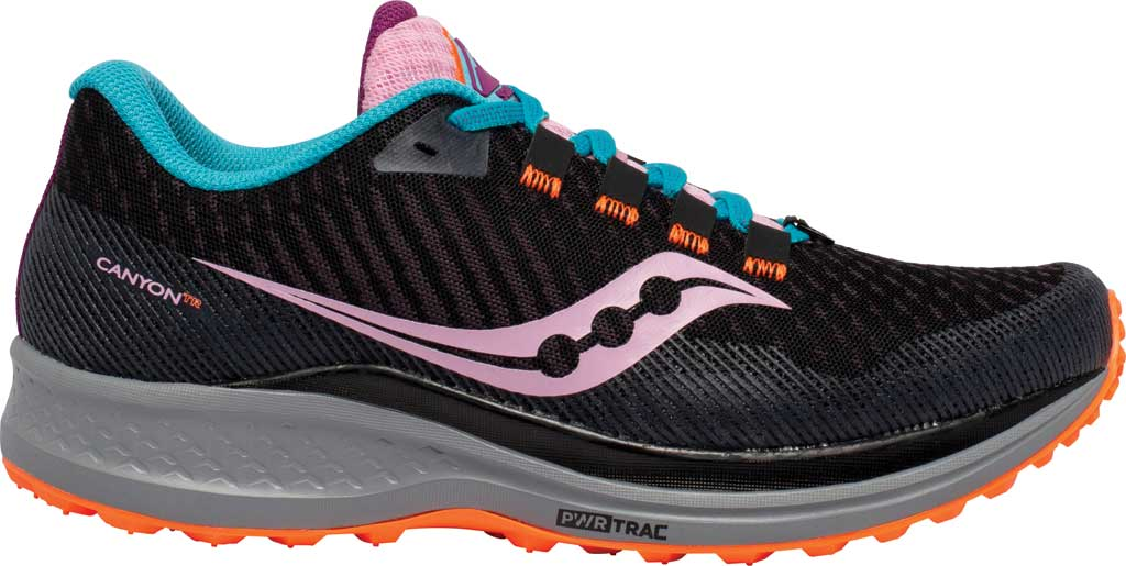 Women's Saucony Canyon TR Trail Running Sneaker, Future Black, large, image 2