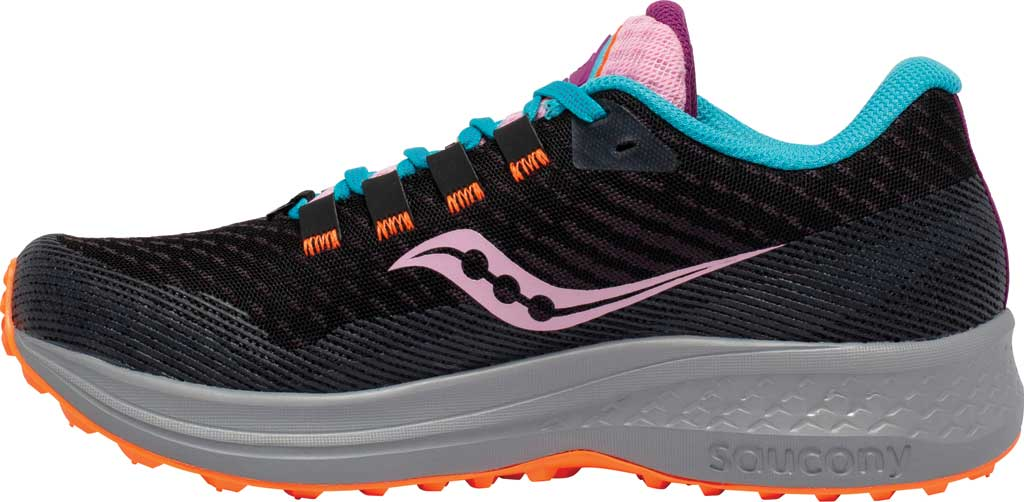 Women's Saucony Canyon TR Trail Running Sneaker, Future Black, large, image 3
