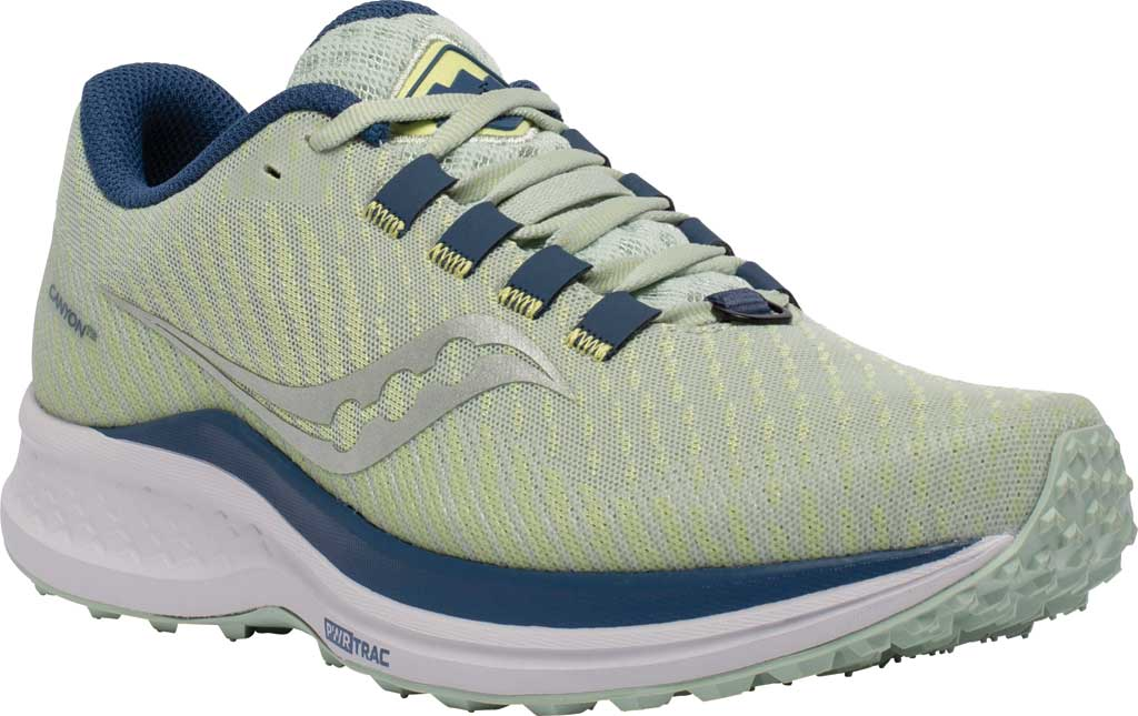 Women's Saucony Canyon TR Trail Running Sneaker, Tide/Storm, large, image 1
