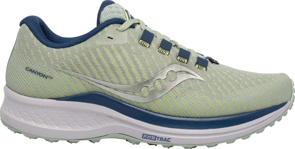 Women's Saucony Canyon TR Trail Running Sneaker, Tide/Storm, large, image 2