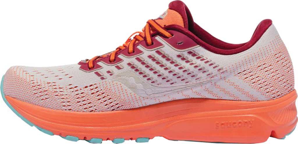 Women's Saucony Ride 13 Running Sneaker, Grey/Orange, large, image 3