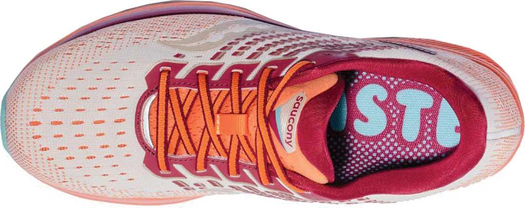 Women's Saucony Ride 13 Running Sneaker, Grey/Orange, large, image 4