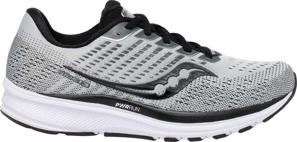 Women's Saucony Ride 13 Running Sneaker, Alloy/Black, large, image 2
