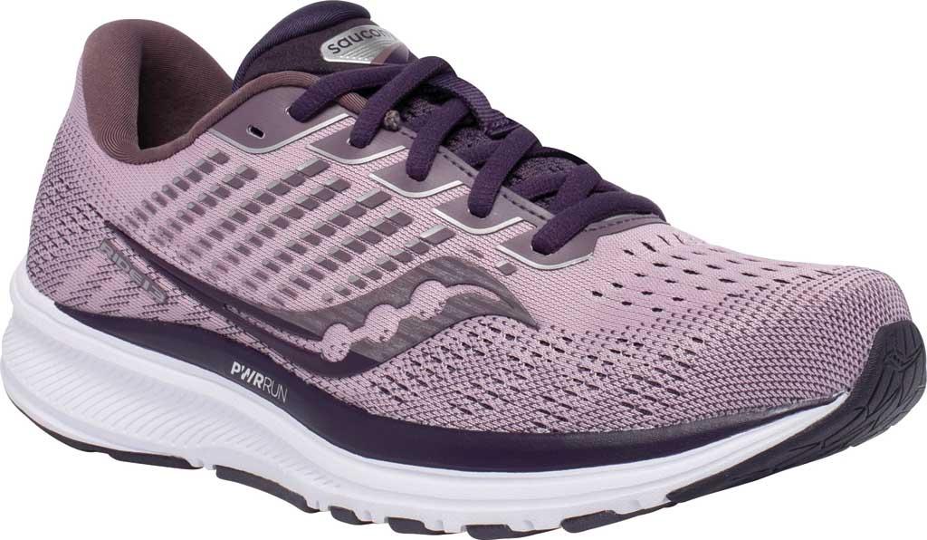 Women's Saucony Ride 13 Running Sneaker, Blush/Dusk, large, image 1