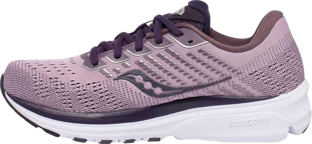 Women's Saucony Ride 13 Running Sneaker, Blush/Dusk, large, image 3