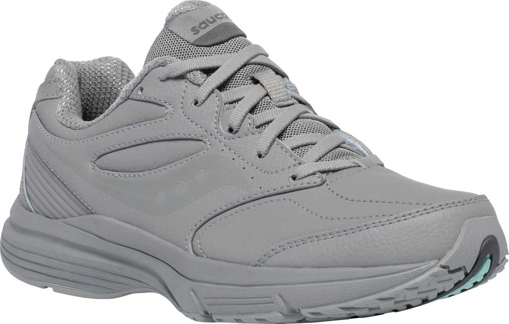 Women's Saucony Integrity Walker 3 Walking Sneaker, Grey, large, image 1