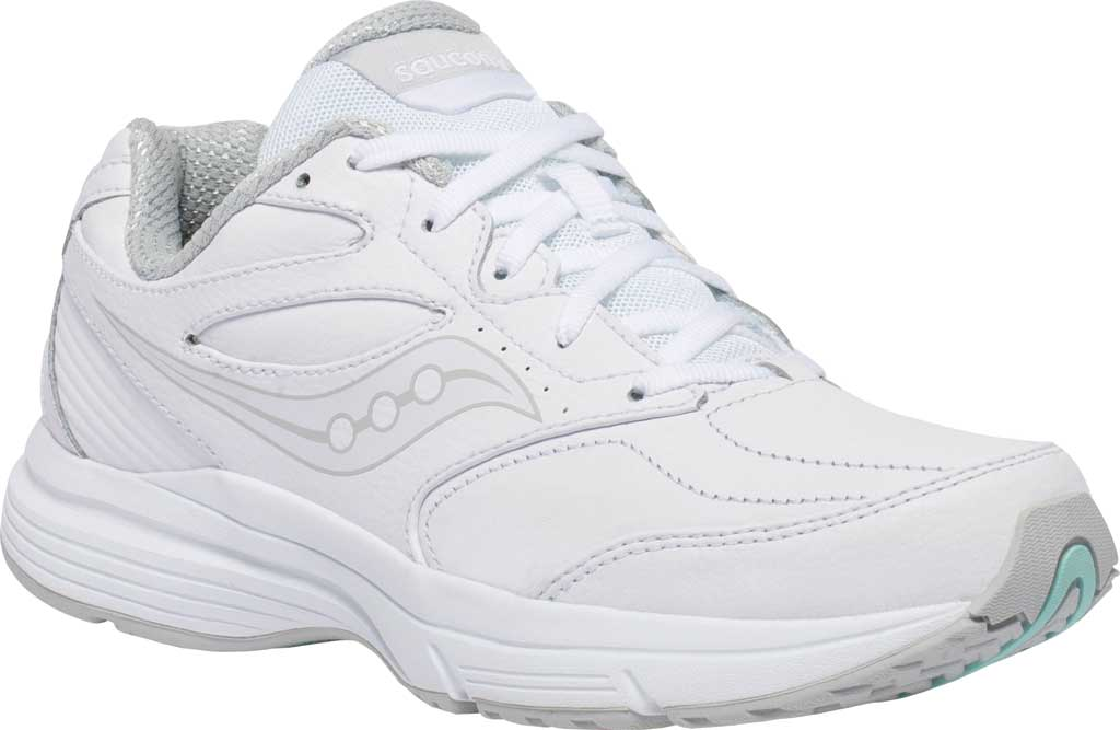Women's Saucony Integrity Walker 3 Walking Sneaker, White, large, image 1