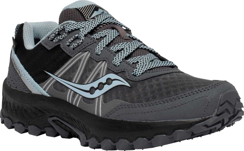 Women's Saucony Excursion TR14 GORE-TEX Trail Running Sneaker, Charcoal/Blue, large, image 1