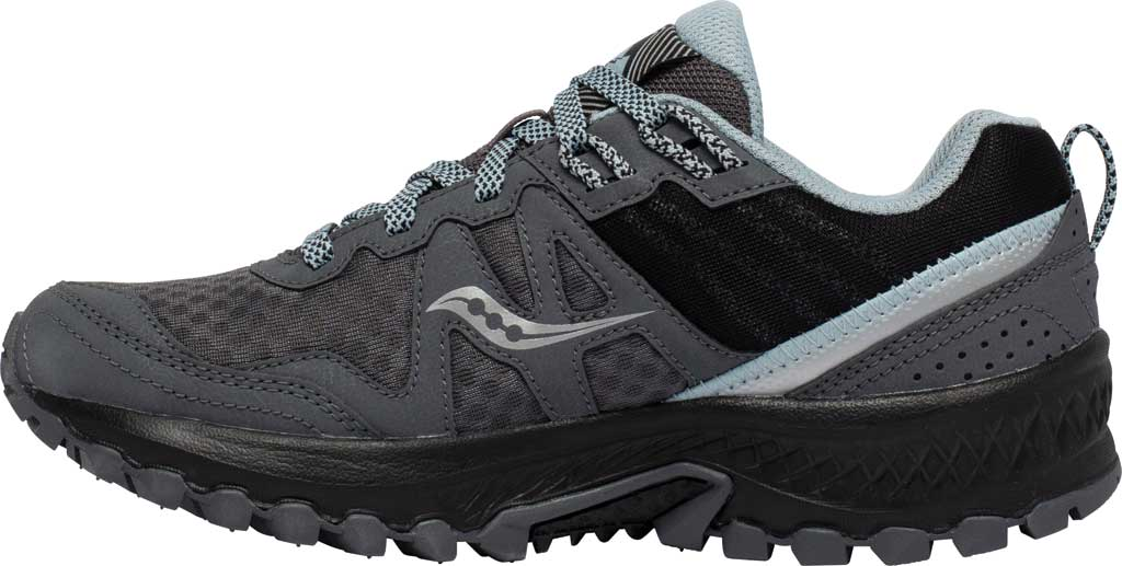 Women's Saucony Excursion TR14 GORE-TEX Trail Running Sneaker, Charcoal/Blue, large, image 3
