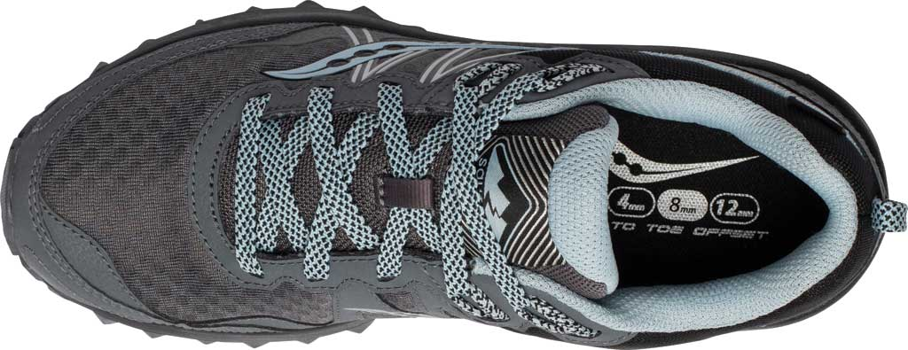 Women's Saucony Excursion TR14 GORE-TEX Trail Running Sneaker, Charcoal/Blue, large, image 4