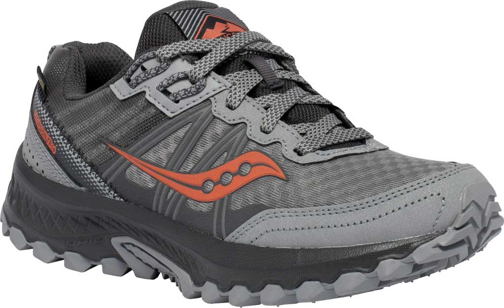 Women's Saucony Excursion TR14 GORE-TEX Trail Running Sneaker, Grey/Coral, large, image 1