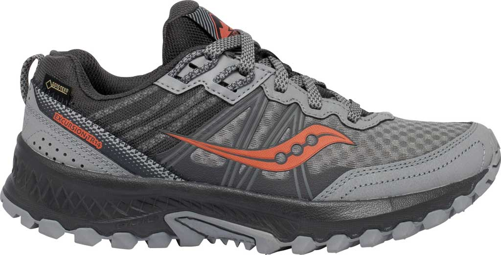 Women's Saucony Excursion TR14 GORE-TEX Trail Running Sneaker, Grey/Coral, large, image 2