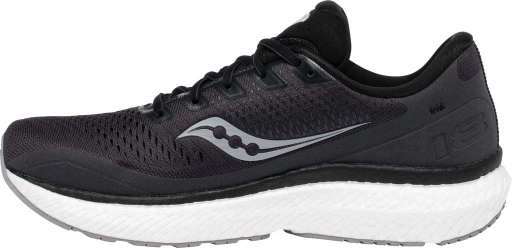 Men's Saucony Triumph 18 Running Sneaker, Charcoal/White, large, image 3